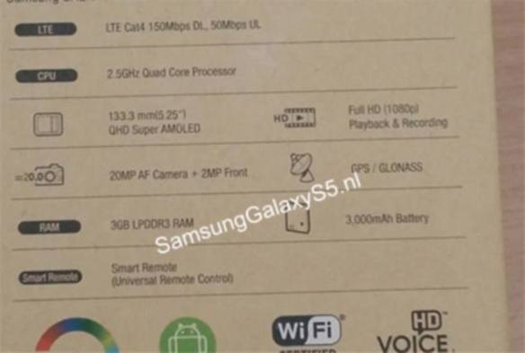 rear_box_Samsung_Galaxy_S5_leak